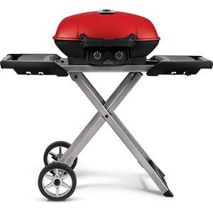 Napoleon TRAVELQ 285X with Scissor Cart and Griddle - Red-TheBBQHQ
