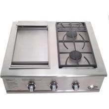"DCS 30"" Liberty Dual Side Burner And Griddle Unit-TheBBQHQ"