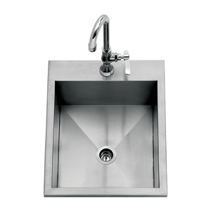 "Delta Heat 15"" Outdoor Sink (Cold Faucet Included)-TheBBQHQ"