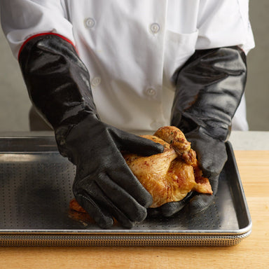 "Black 17"" Heat Resistant Gloves-TheBBQHQ"