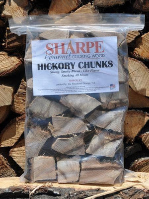 Hickory Chunks - Sharpe Gourmet Cooking Wood Bag (.45 cu ft)-TheBBQHQ