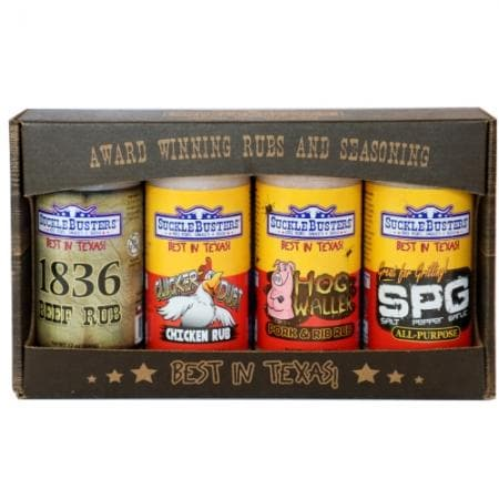 Suckle Busters Gift Box BBQ Rubs 4 Large Jars