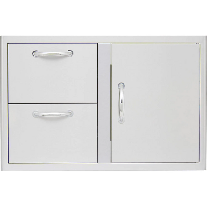 "Blaze 32"" Access Door & Stainless Steel Double Drawer Combo"