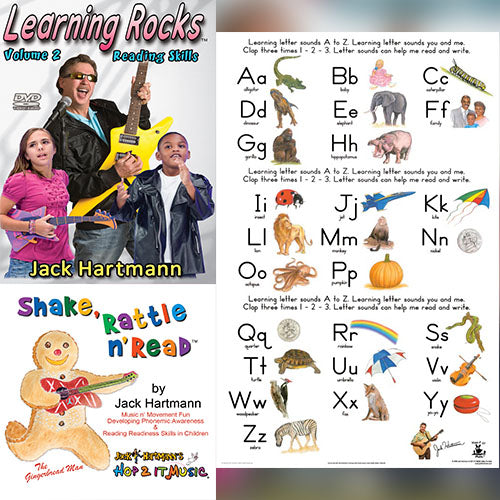 Learning Letter Sounds Bundle | Hop 2 It Music