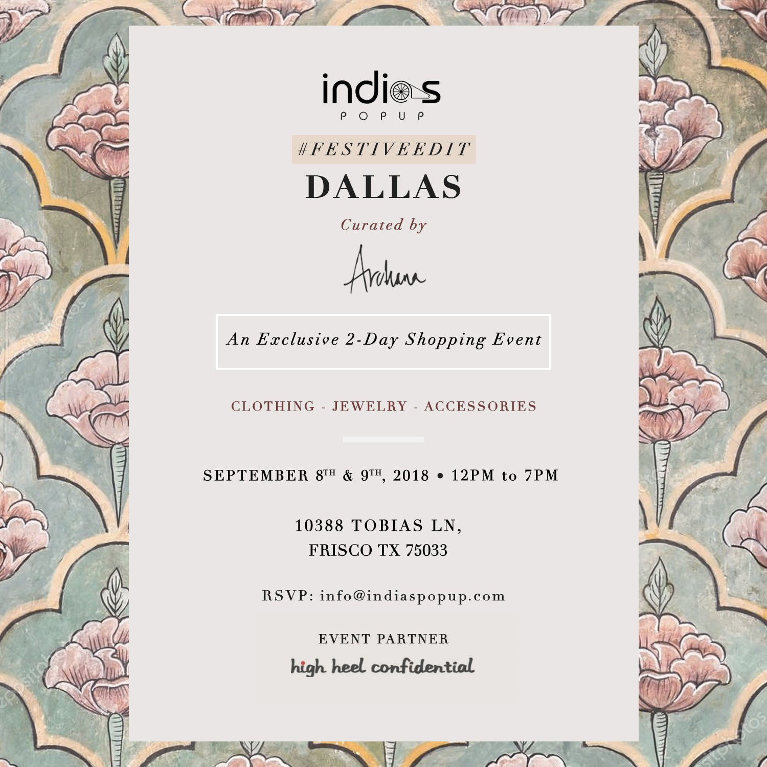 Archana Yenna Presents Indian Luxury Festive Edit 2018 Dallas