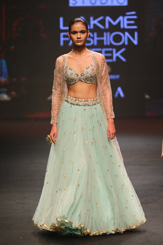 Ashwini Reddy Mint Sequence Lehenga