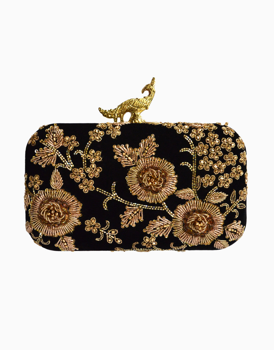 RUSARU RAFAELA BLACK CLUTCH