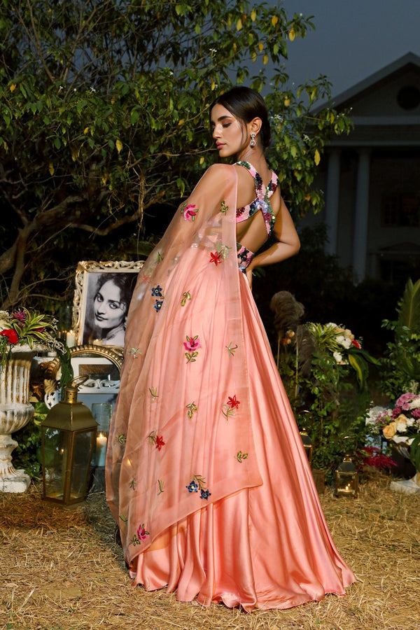 Mahima Mahajan-Blush Embroidered Lehenga Set-INDIASPOPUP.COM