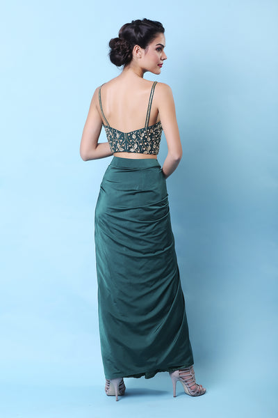 Emerald Drape Cape Set