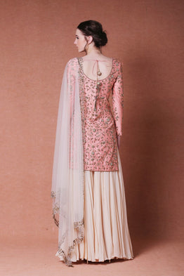 embroidered sharara set
