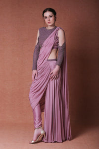 Dheeru And Nitika - Embroidered Blouse With Saree - INDIASPOPUP.COM