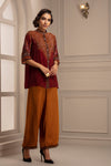 Rajdeep Ranawat-Red & Brown Top With Pant-INDIASPOPUP.COM