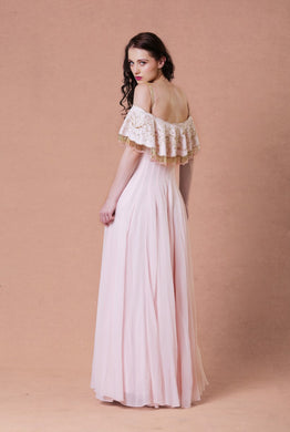 Pink Cape Anarkali with tassels