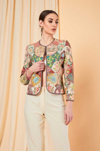 Patine-Multicolor Erezwa Patch Work Jacket-INDIASPOPUP.COM