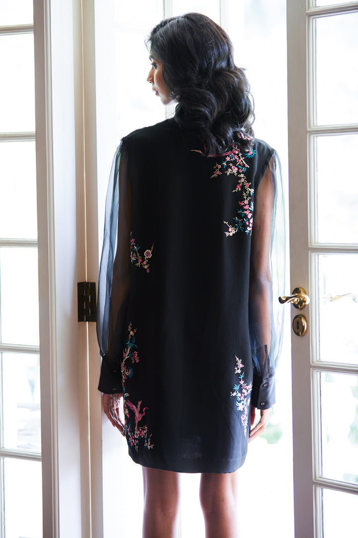 Patine-Black Shreya Dress-INDIASPOPUP.COM