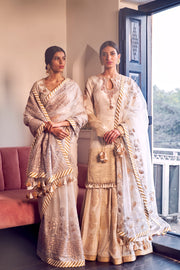 Rar Studio-Ivory Chanderi Anarkali Set-INDIASPOPUP.COM