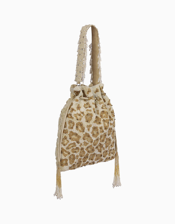 Lovetobag-Gold Risque Drawstring Pouch-INDIASPOPUP.COM