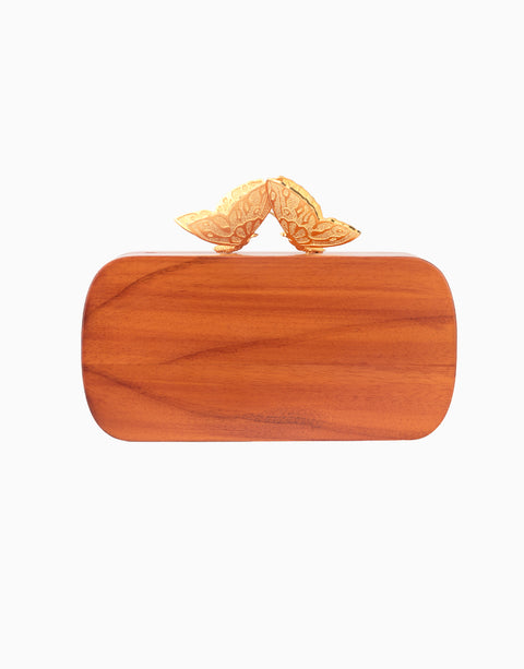 Duet Luxury - Blue Wood Evening Clutch - INDIASPOPUP.COM