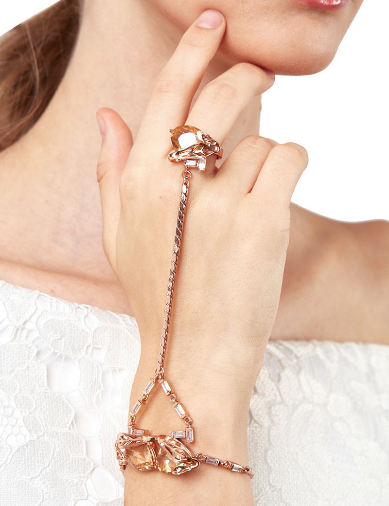 Outhouse-Rose Gold Oceana Lumiere Handharness-INDIASPOPUP.COM