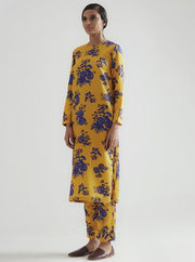 Kshitij Jalori-Palm Yellow Kurta And Pant Set-INDIASPOPUP.COM