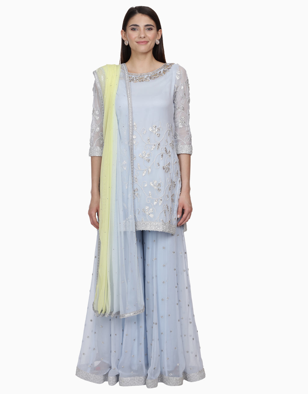 BHUMIKA GROVER ICE BLUE SHARARA SET