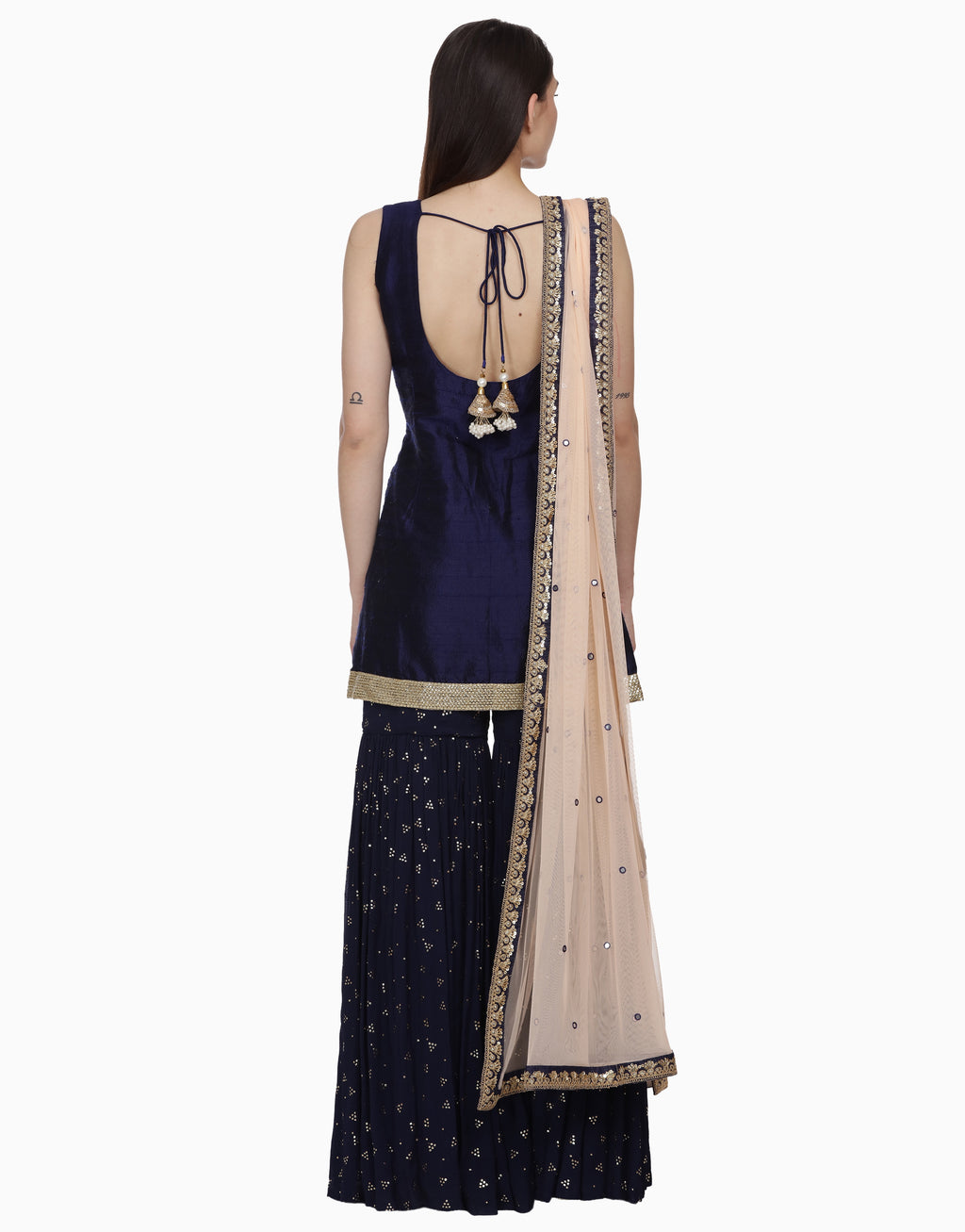 BHUMIKA GROVER INK BLUE GARARA SET