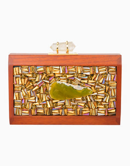 DUET LUXURY SQUARE JEWEL TONES DESIGN CLUTCH