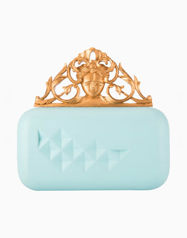 Blue Handcarved Knob Clutch