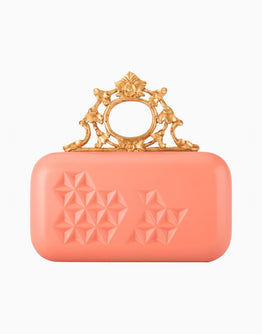 Pink Handcarved Knob Clutch