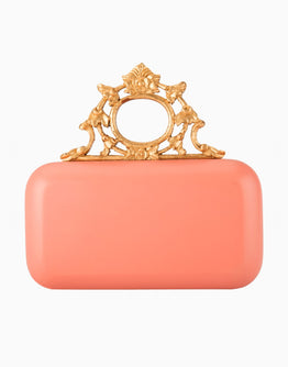DUET LUXURY PINK HANDCARVED KNOB CLUTCH