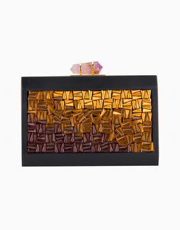 Square Jewel Tones Design Clutch