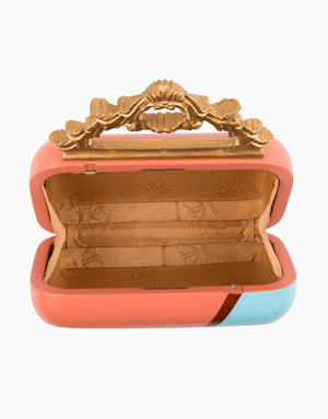 DUET LUXURY DUAL TONE HANDCARVED KNOB CLUTCH