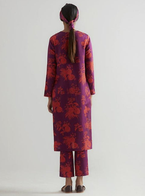 Kshitij Jalori-Mirissa Purple Kurta And Pant Set-INDIASPOPUP.COM
