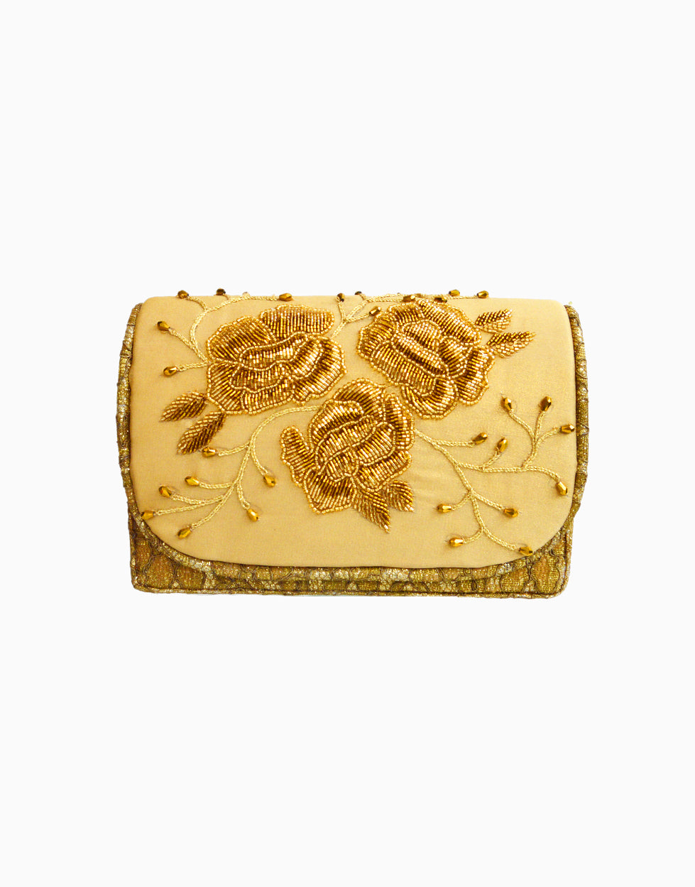 RUSARU DENEBOLA GOLD FLAP CLUTCH