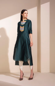 Forest Green Tunic With Dhoti