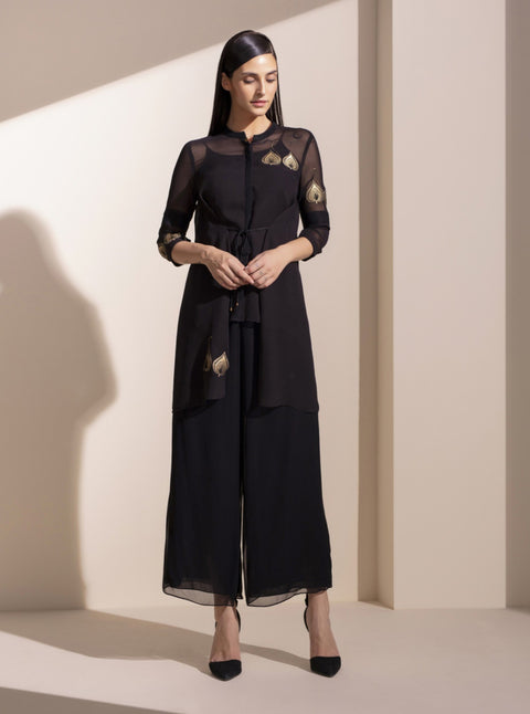 Black Tunic With Inner