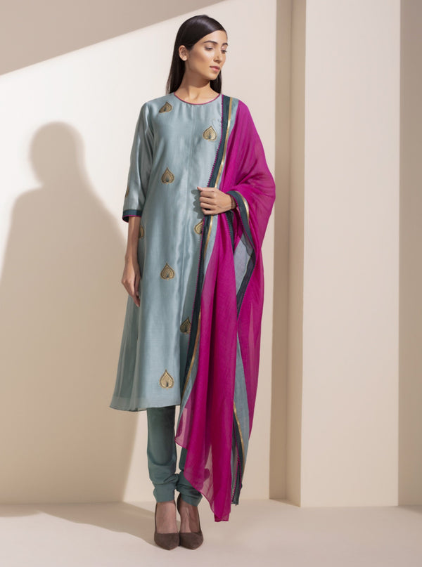 Sage Embroidered Kurta & Pants