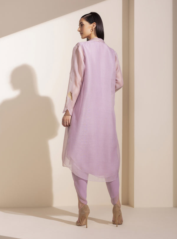 Dusty Lilac Tunic With Inner & Dhoti