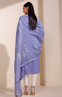 Dark Lavender Kurta & Dupatta With Pant