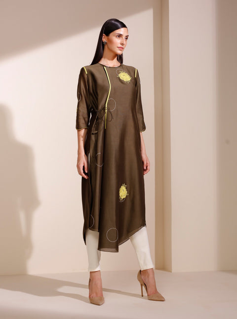 Olive Embroidered Tunic