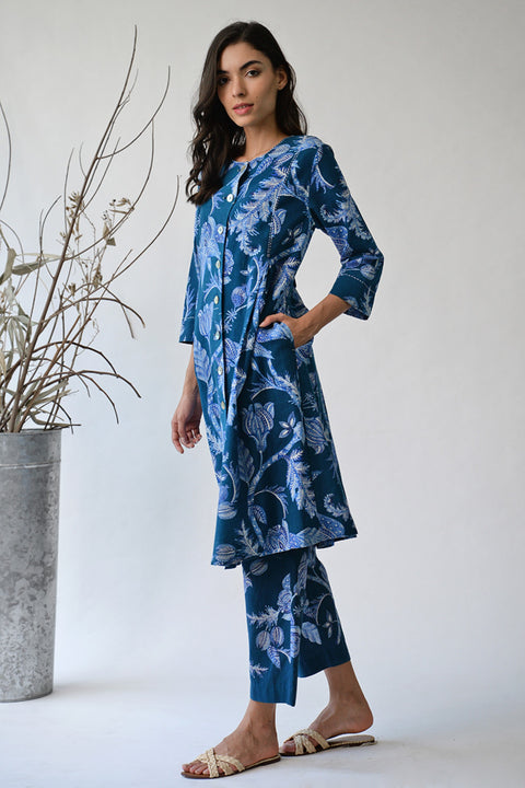Indigo Nabeshima Jacket Dress