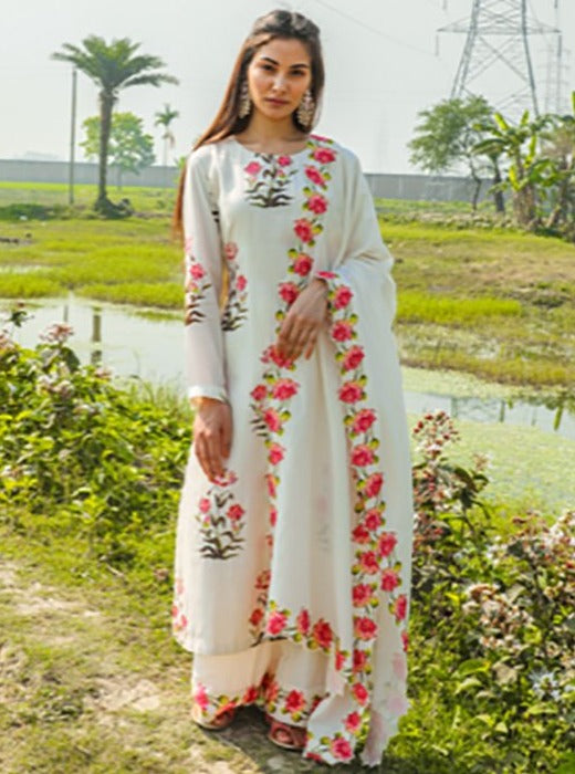 Pink City-White Digitally Printed Kurta Set-INDIASPOPUP.COM