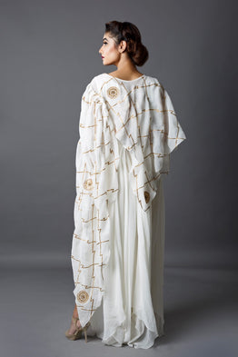 Ivory Cape Gown