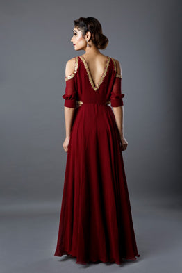 Red Cutout Gown
