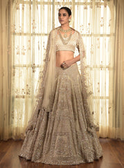 Ivory Allora Tissue Lehenga Set