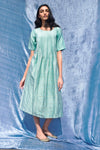 Label Earthen - Aqua Green Dress - INDIASPOPUP.COM
