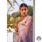 Rar Studio-Grey & Multi Saree Set-INDIASPOPUP.COM