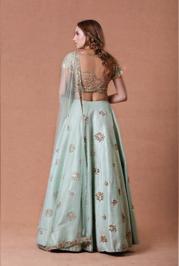 Gold Embroidered Lehenga