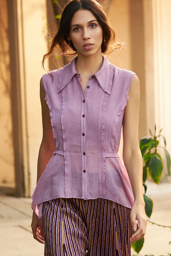 Birdwalk-Mauve Top With Trouser-INDIASPOPUP.COM