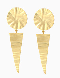 BELSI'S JEWELRY BELSIS GOLD TONE EARRINGS